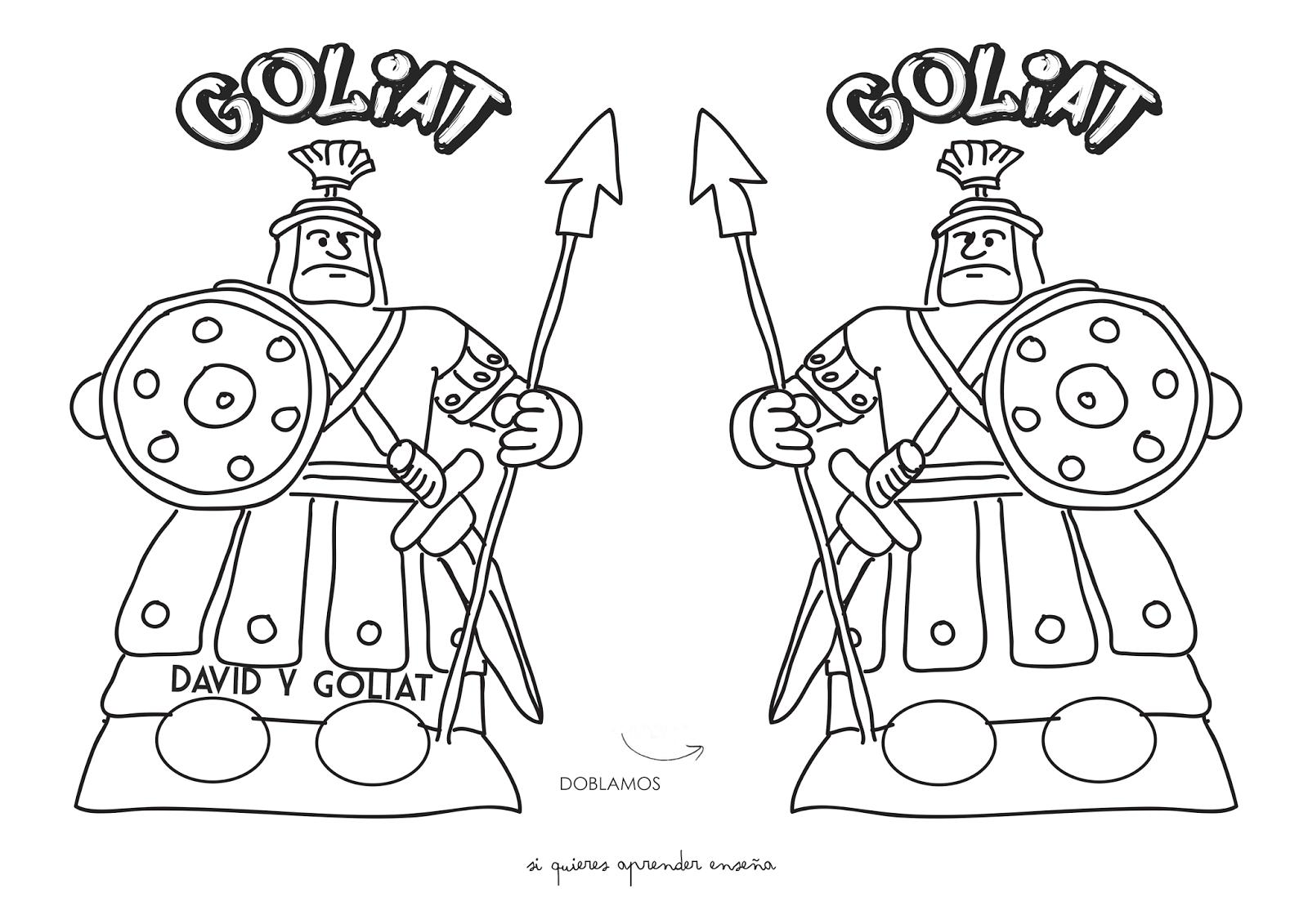 Si quieres aprender, ENSEÑA.: David y Goliat | Dávid és Góliát ...