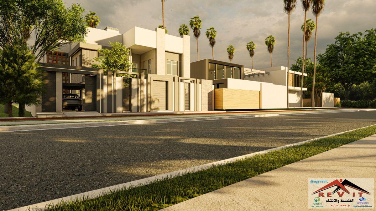 واجهة فيلا مودرن House Styles Mansions House