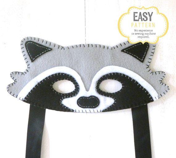 Raccoon Fox Mask Pattern Raccoon Mask Sewing by LittleHibouShoppe ...