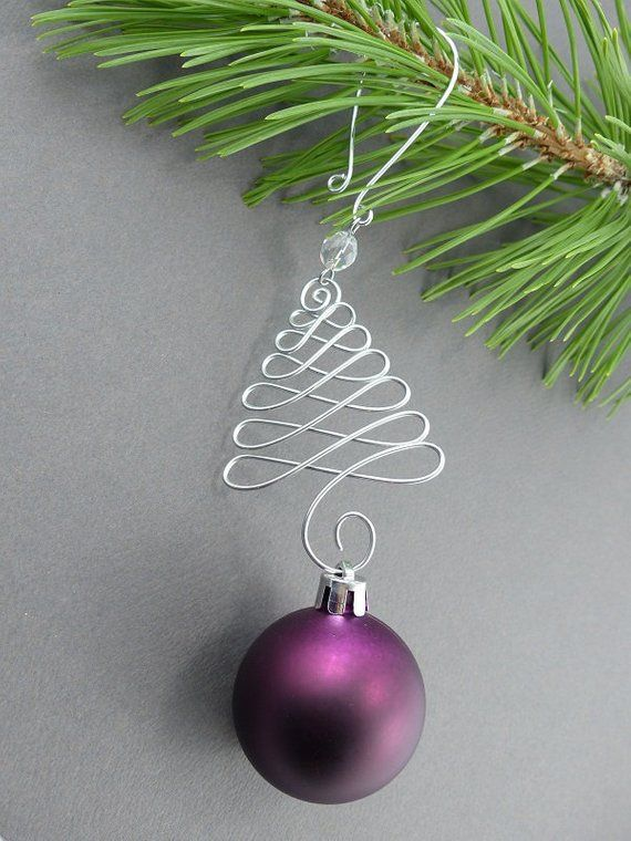 Christmas Tree Ornament Hangers - Wire Christmas Ornament Hooks for Decorations - Handmade Christmas Tree Decoration Hanger