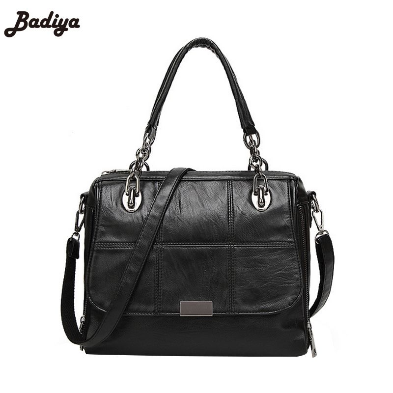 5fd7cbbabbd New Women Fashion Single Shoulder Bag Brief Design PU Leather Crossbody  Messenger Bags Elegant Handbags For