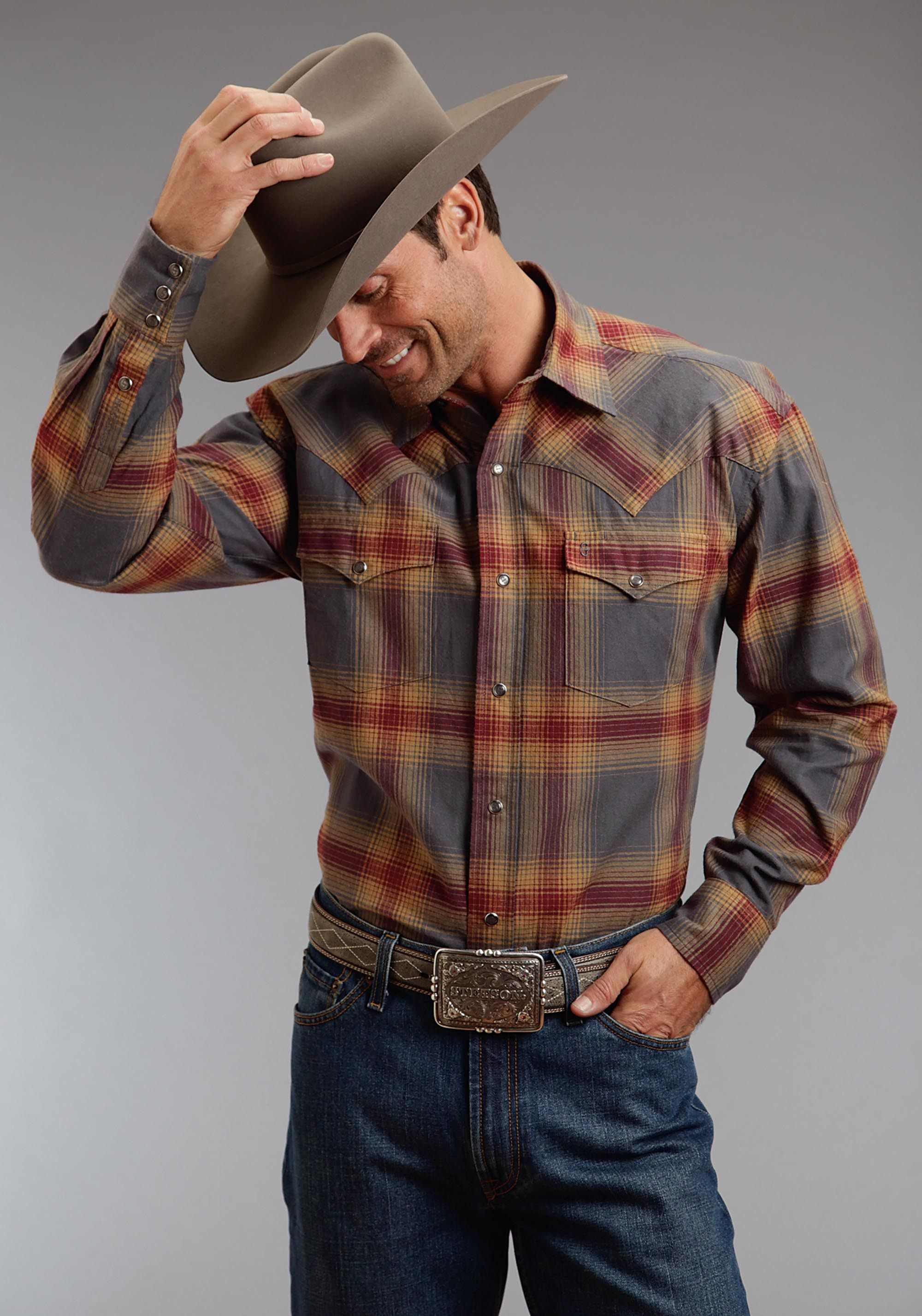 05cc3a1390f Stetson Mens Cowboy Shirt - Cuyanhoga | ring of fire in 2019 | Mens ...