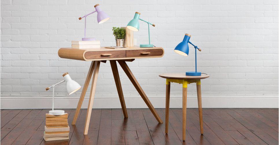 Cohen, une lampe de chevet, violet lilas | Bedside table