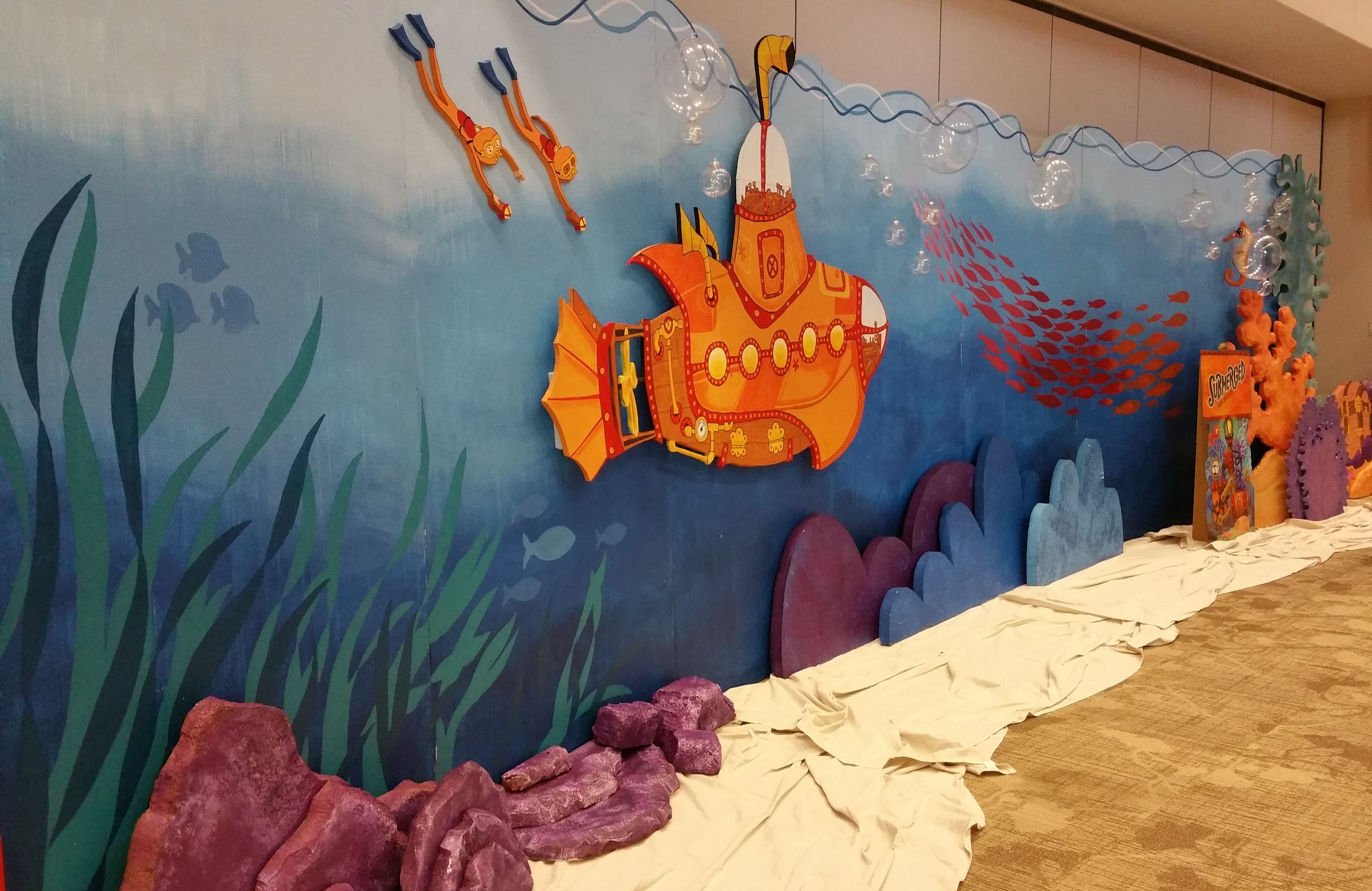 Classroom Decoration Ideas Fort Worth : Submerged vbs full view of backdrop