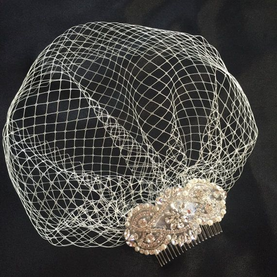 """Ivory or white 9/"""" Make your own Wedding Birdcage Veiling Millinery Hat Veil Net"""
