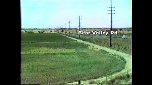 This is looking west towards Victorville along Bear Valley