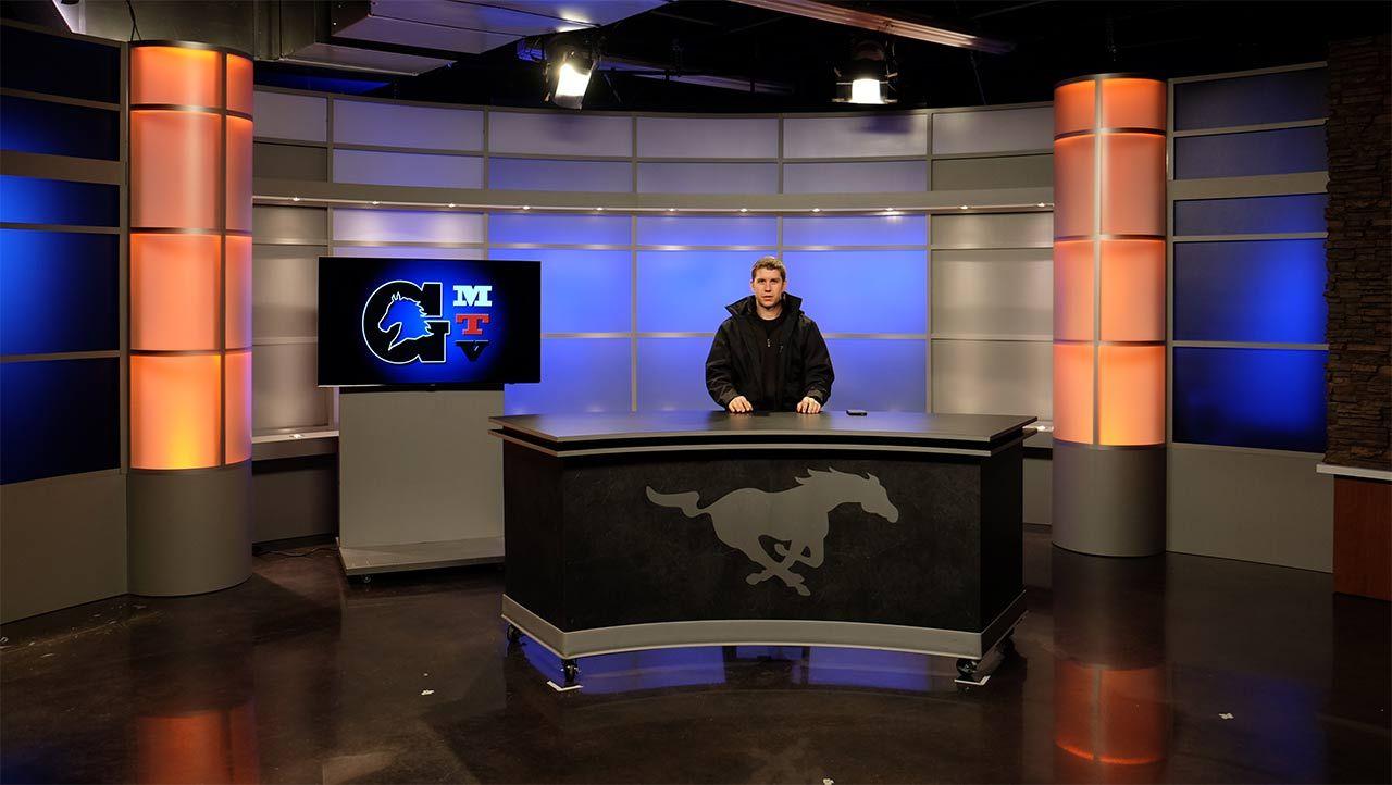 Complete Set Design Broadcast Studio 1 Small Jpg 1280 722 Tv Set Design Design Set Design