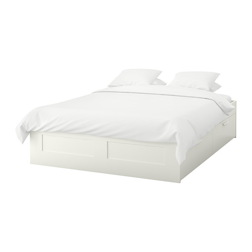 Brimnes Bed Frame With Storage White Luroy Queen Bed Frame