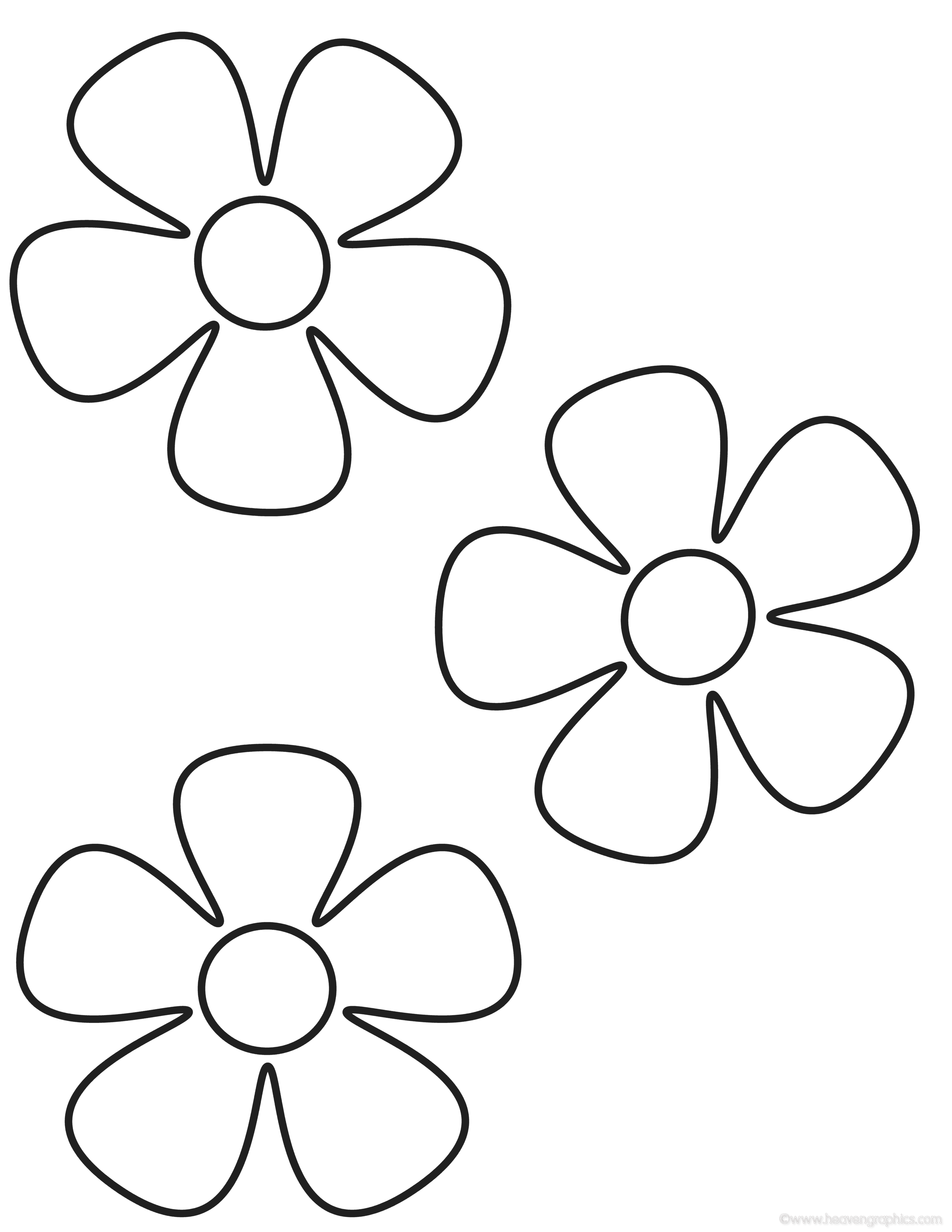 Printable Coloring Pages Flowers Kids Flower Coloring