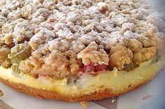 Photo of Rhubarb cake with vanilla cream and sprinkles from speedymaus | Chef