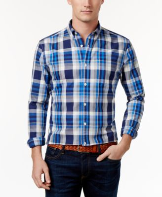 TOMMY HILFIGER Tommy Hilfiger Men's Franklin Plaid Shirt. #tommyhilfiger #cloth #down shirts
