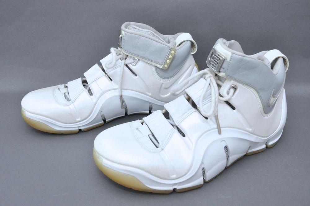 db05fedd945fe Rare 2006 NIKE ZOOM LEBRON 4 WHITE REFLECTIVE-SILVER CHROME  314647-112  Sz  11  Nike  BasketballShoes