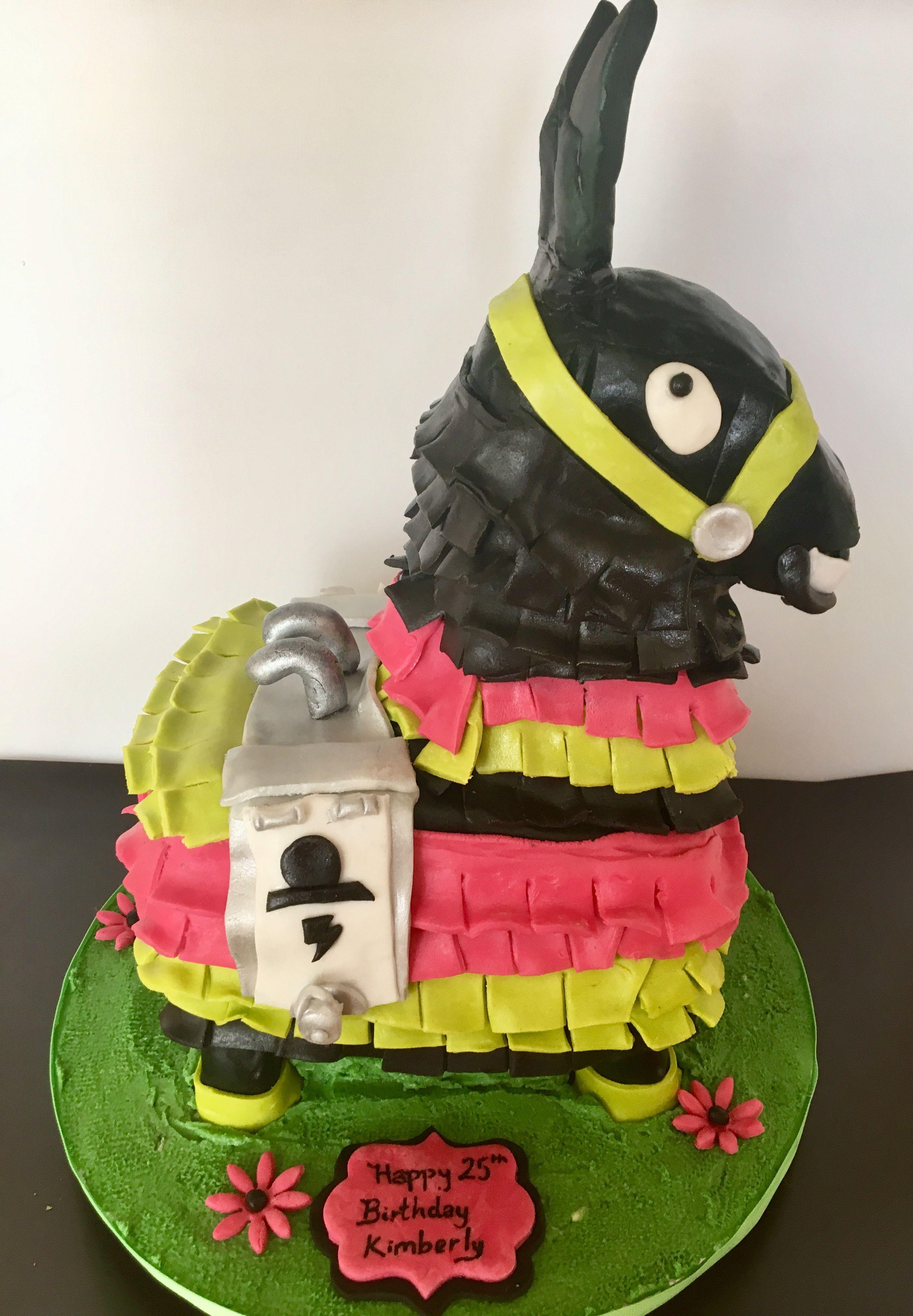 Fortnite Game Llama Cake Cakes Cake Birthday Birthday Cake