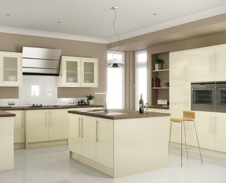 Cream Gloss Kitchen And Range Cooker   Google Search