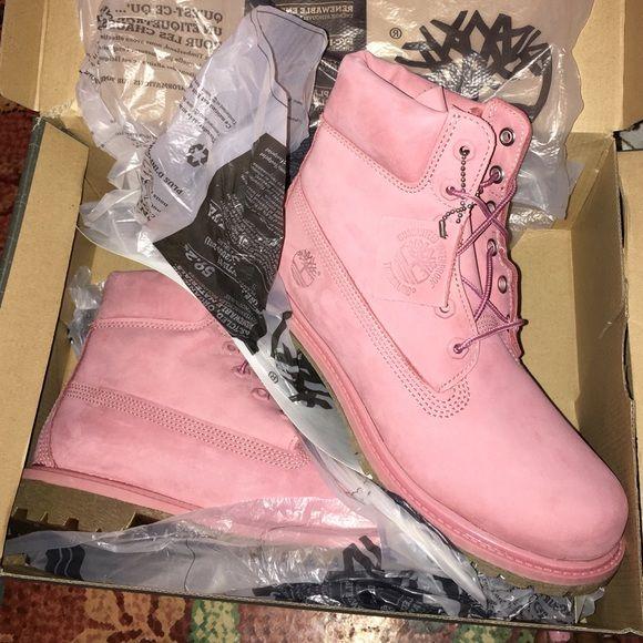 Baby pink light pink Timberlands | Pink