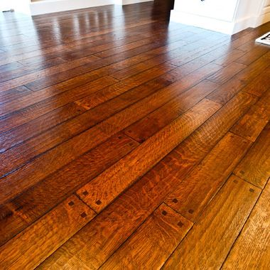 Oak Pegged Hardwood Floors Perfect Example Of A Hand Made Textured And Detailed Custom Floor Hardwood Floors Flooring Wood Floors