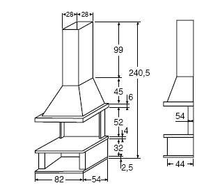 Resultado de imagen para planos de estufa a le a de for Planos de cocina economica a lena