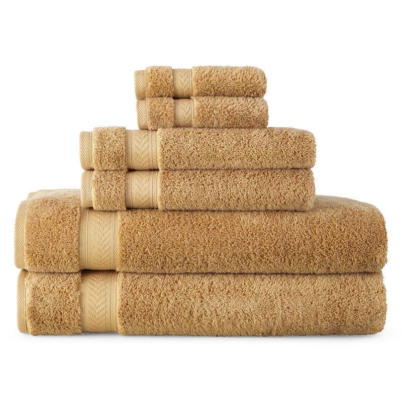 Royal Velvet Luxury Egyptian Cotton Loops 6 Pc Bath Towel Set