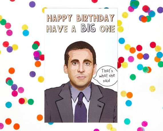 Michael Scott The Office Tv Show Birthday Card Dwight Schrute