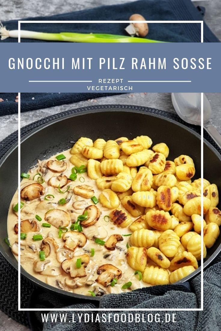 Gnocchi mit Pilz-Rahm-Soße, ein einfaches, schnelles, vegetarisches und sehr leckeres Rezept❣ #recipes #homemade #sauce #soße #rezept #vegetarian #pfanne #easy #mashroom #rezepte #rezeptidee #foodblog #food