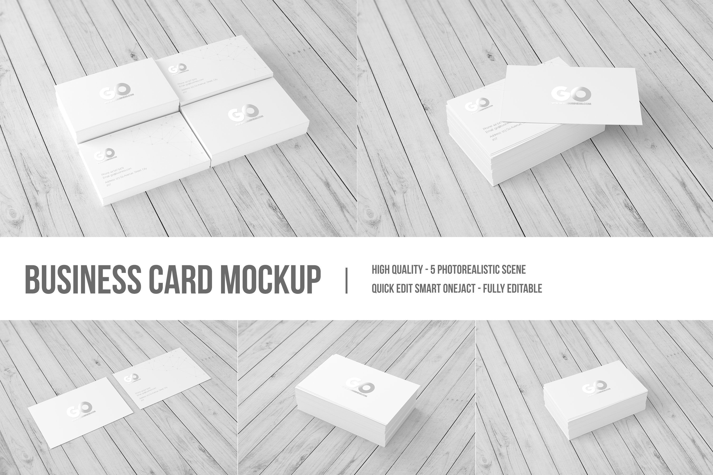 Business Card Mockup Ad Sponsored Changeable Files