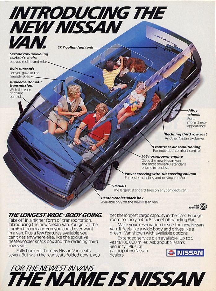 1987 Nissan Van Ad #hoseltonsellsnissans www ...