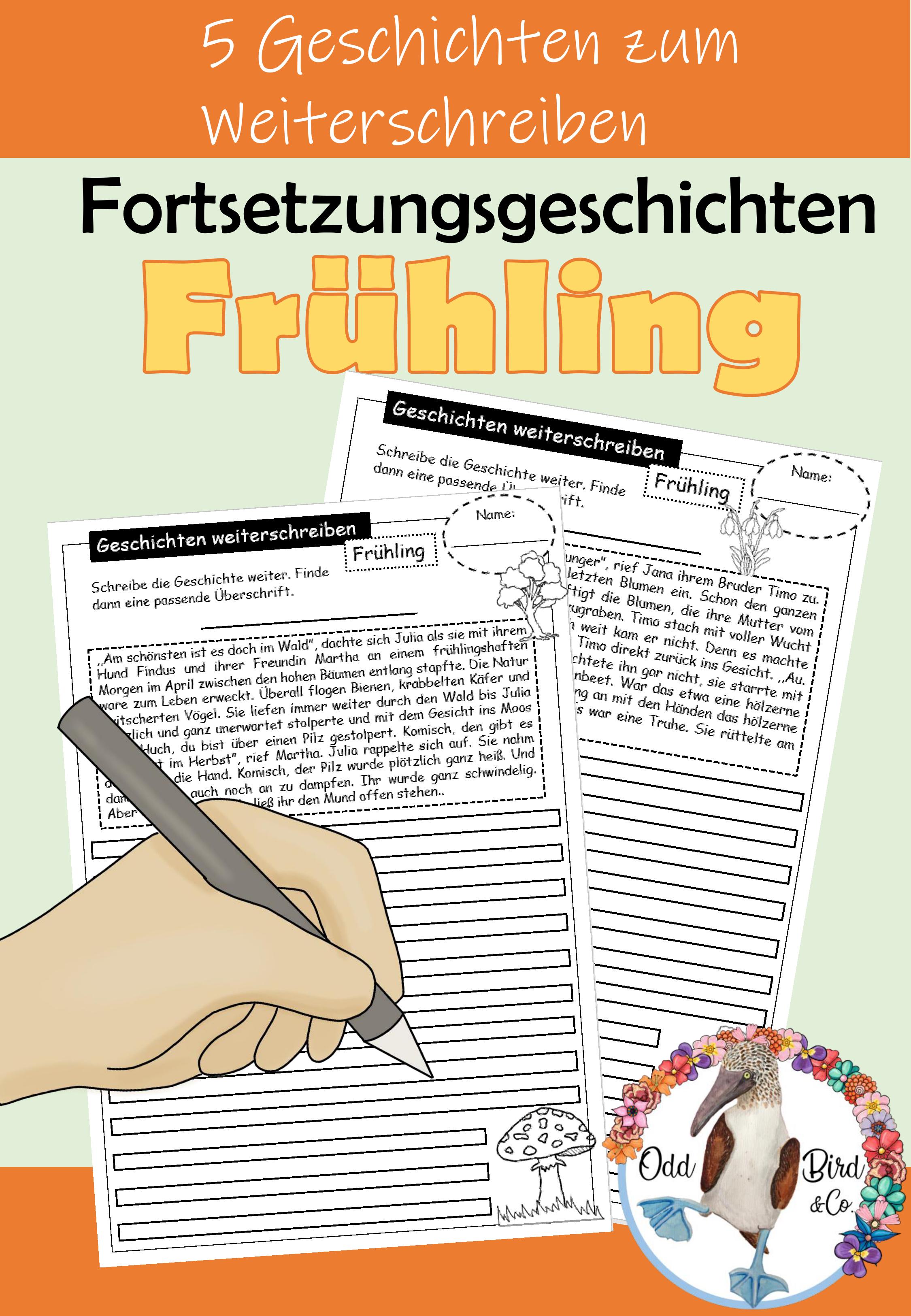 Fruhling Geschichten Weiterschreiben Fortsetzungsgeschichten Schreiben Kreatives Und Freies Schreiben Im Deutschunterricht Unterrichtsmaterial In Den F In 2020 Deutsch Unterricht Geschichten Daf