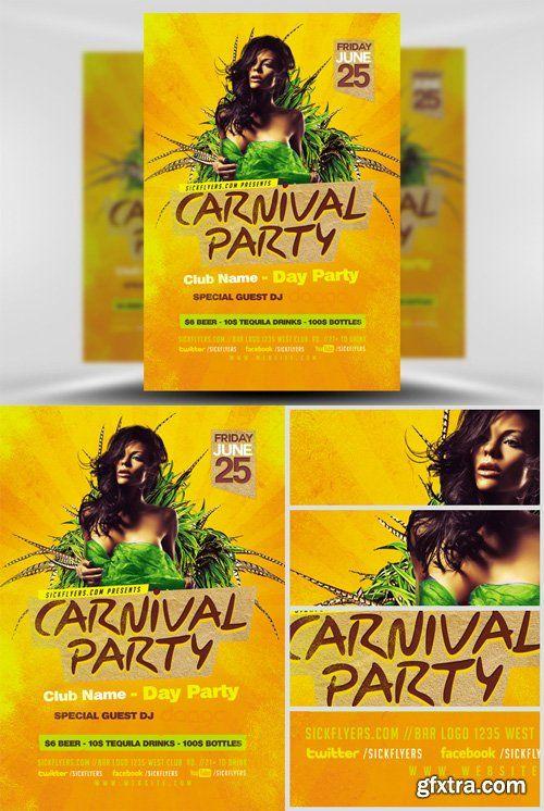 Carnival Flyer Template Gfxtra Pinterest Adobe Photoshop