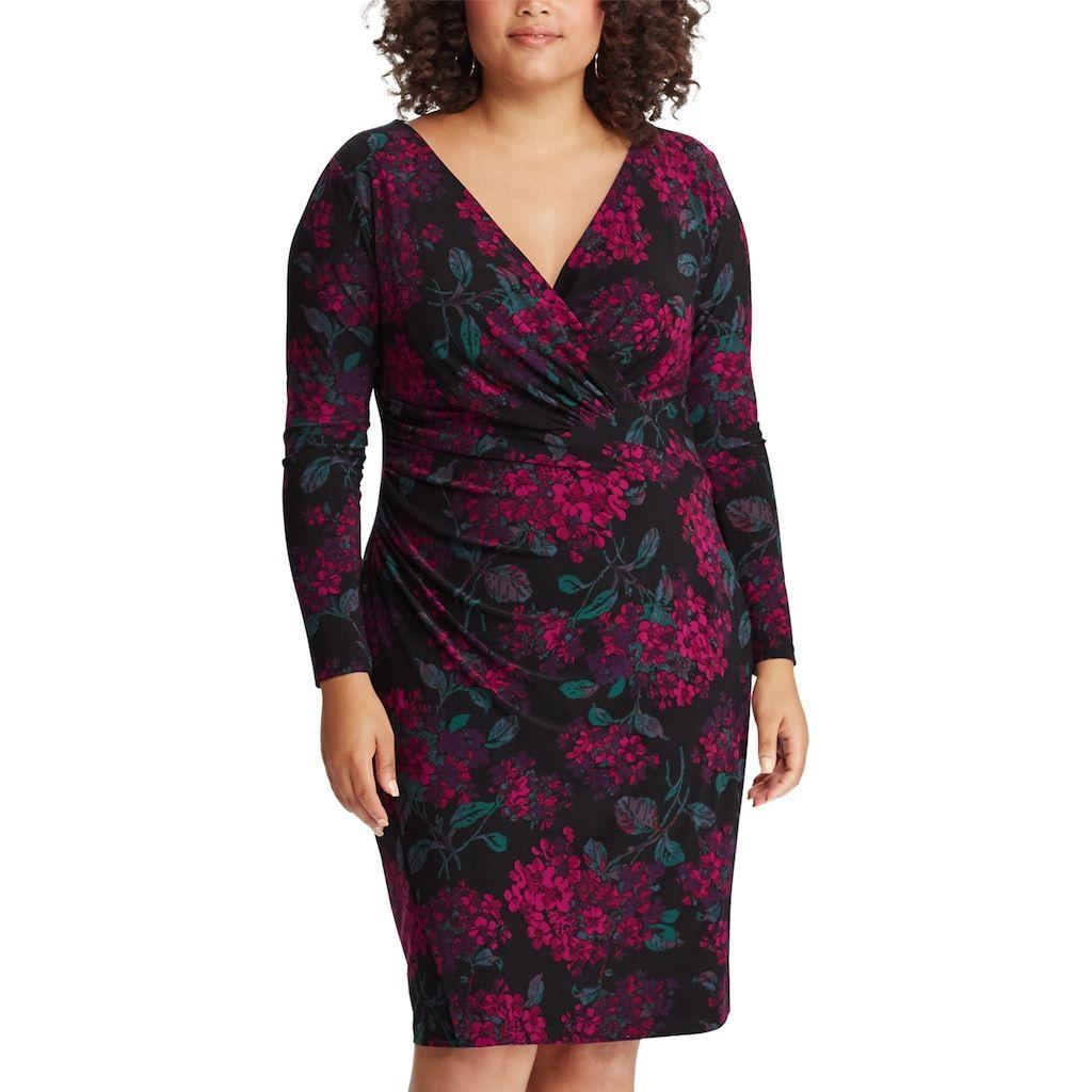 c07ba2e97e Plus Size Chaps Faux-Wrap Dress