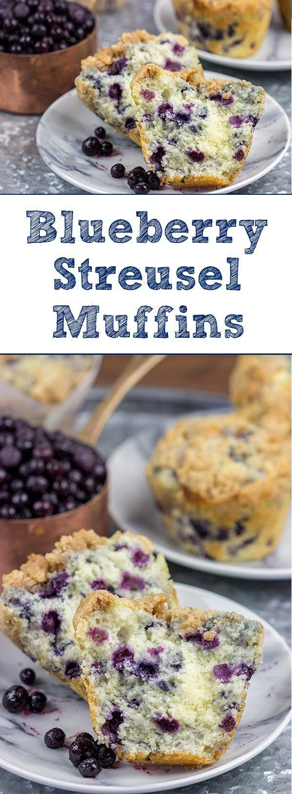 Blueberry Streusel Muffins Make These Bakery Style Muffins For Breakfast Recipe Blueberry Streusel Muffins Muffin Streusel Bakery Style Muffins