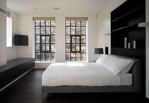 Black and white storage home bed room pinterest slaapkamer