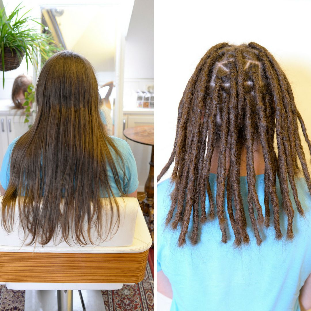 How Much Do Dreadlocks Shrink In Length That Is One Of The Most Common Dreadlocks Questions That I Get We One Dreadlock In Hair Dreadlocks Girl One Dreadlock
