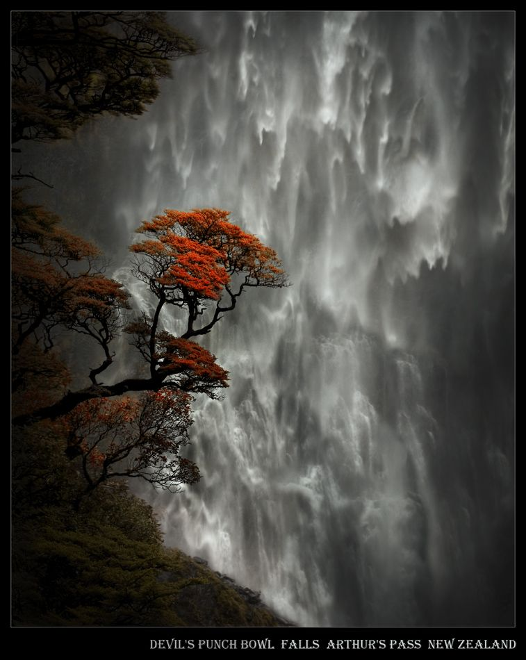 Devil's Punch Bowl Falls Arthur's Pass New Zealand - Stunning waterfalls -  hittheroad posted not sure who took pic
