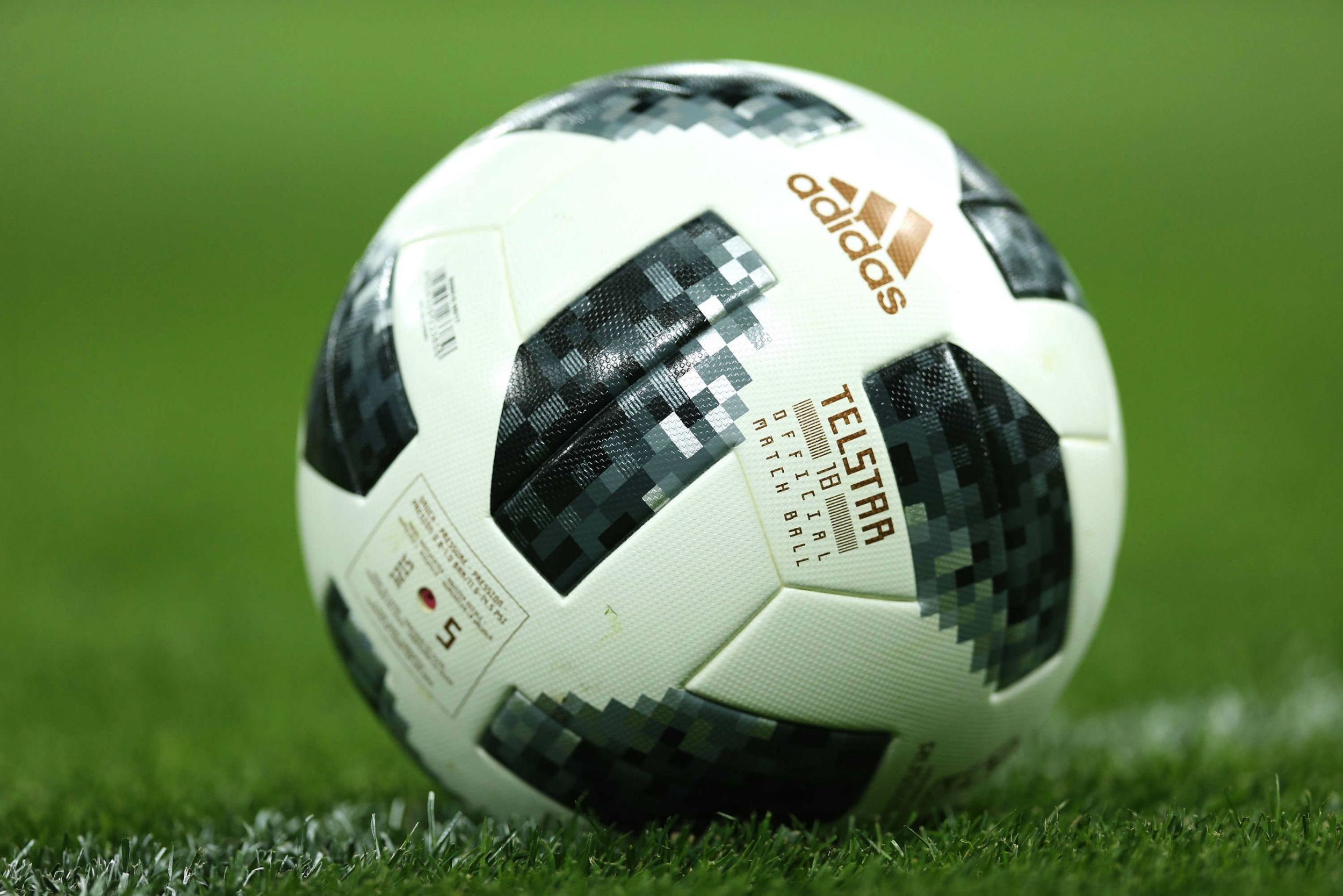 3f0fb41ffa8 Adidas Telstar 18 ball on ground wallpaper