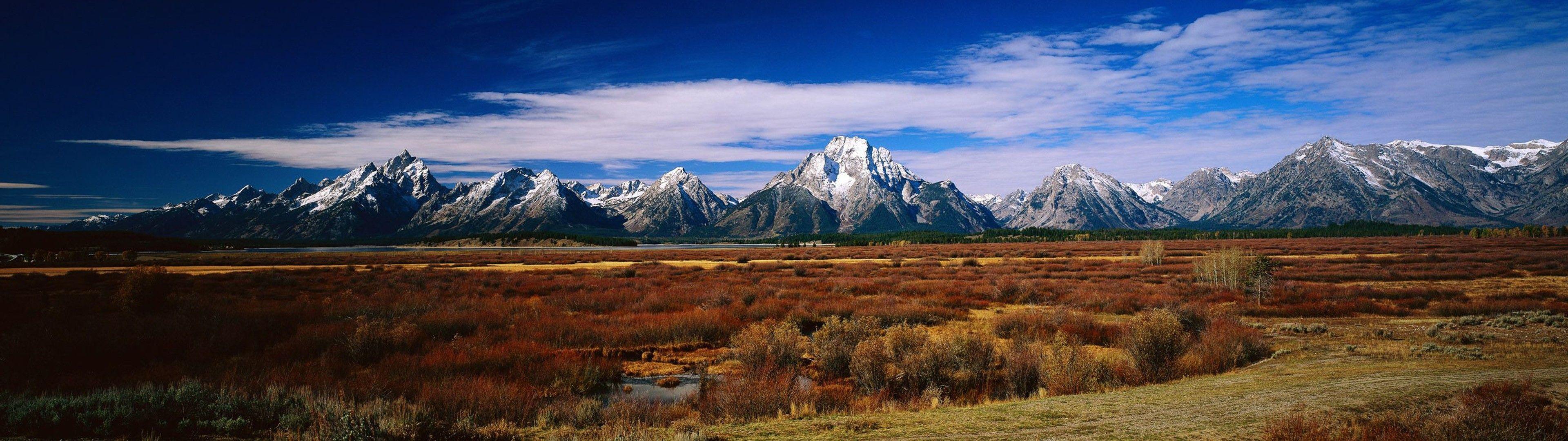 nature, landscape, mountains, sky wallpaper Dual