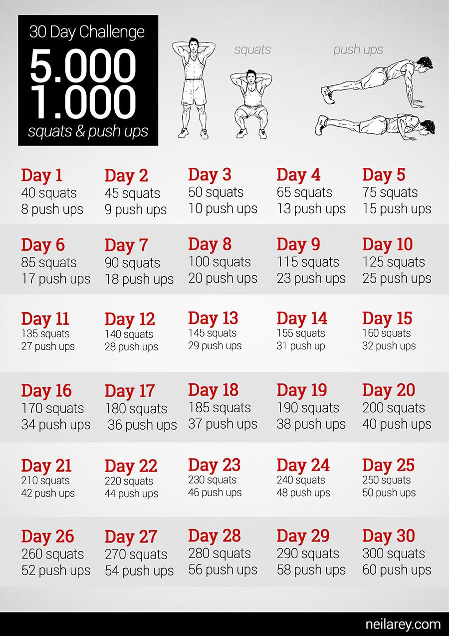worth a try 5000 squats 1000 push ups 30 day challenge why not fitness bung bungen. Black Bedroom Furniture Sets. Home Design Ideas