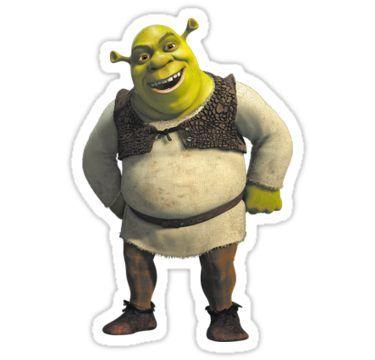 Shrek Sticker Shrek Shrek Character Retro Illustration