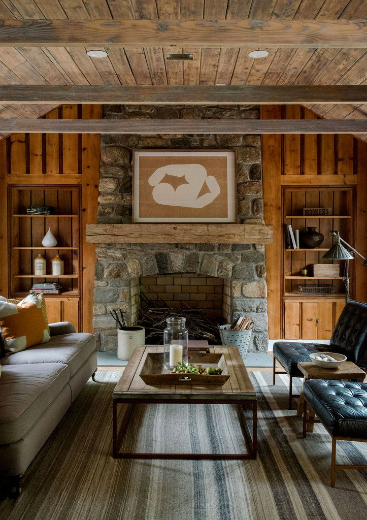 Wood Paneled Room Design: The Living Room Still Has The Original Wood Paneling