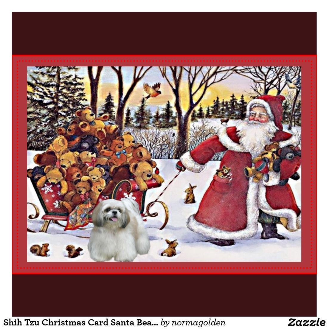 vintage holiday cards shih tzu - Google Search | Tzu Tzu Love ...