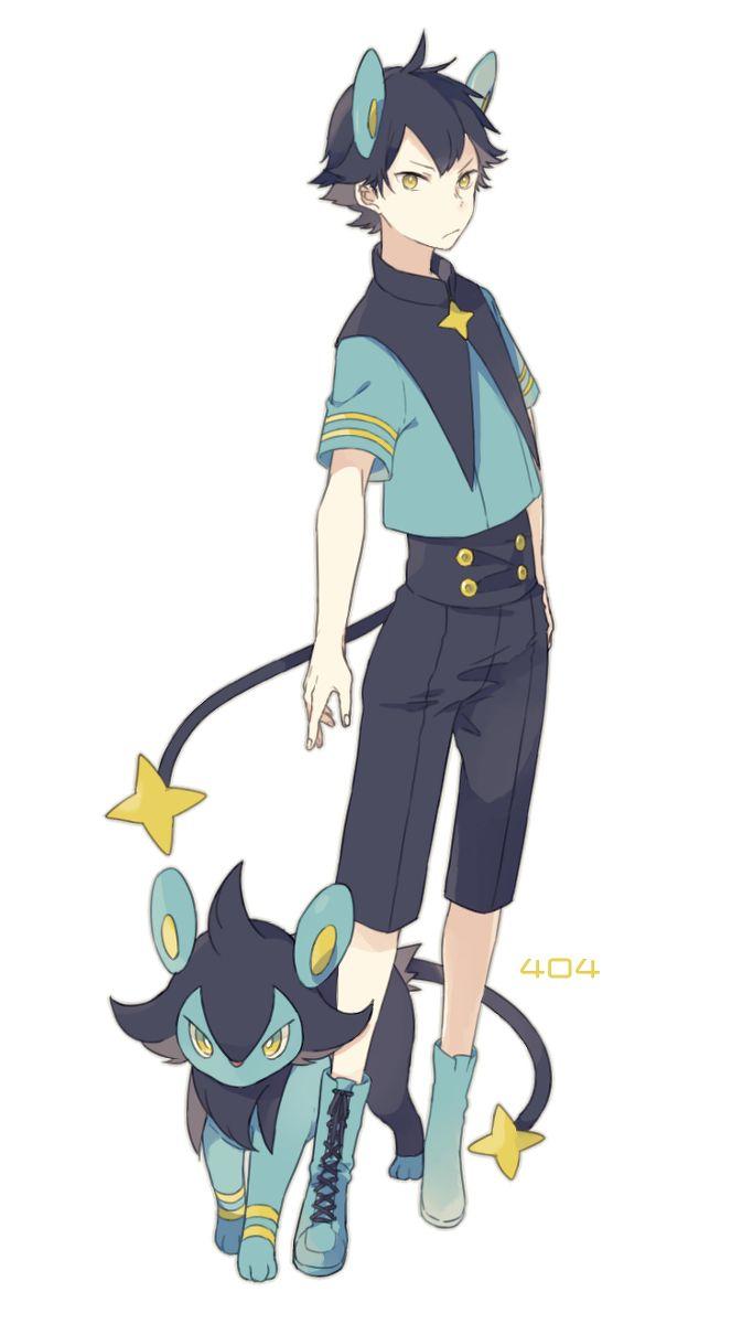 Pokémon - 404 Luxio art by 大石 (Pixiv)