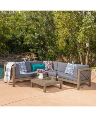 Falana 4 Pc Outdoor Sectional Quick Ship Products Pinterest