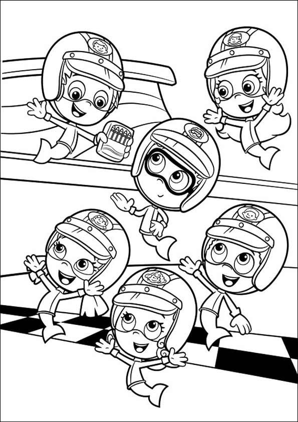 Bubble Guppies Coloring Pages  Cartoon Coloring Pages  Pinterest