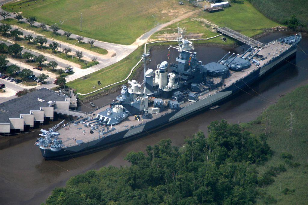 USS North Carolina BB-55, at her mooring in Wilmington, North Carolina