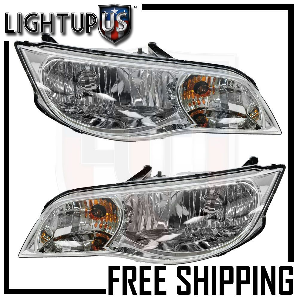Headlights Headlamps Pair Left Right Set For 03 07 Saturn Ion Coupe Chevrolet Aveo Headlights Headlamps