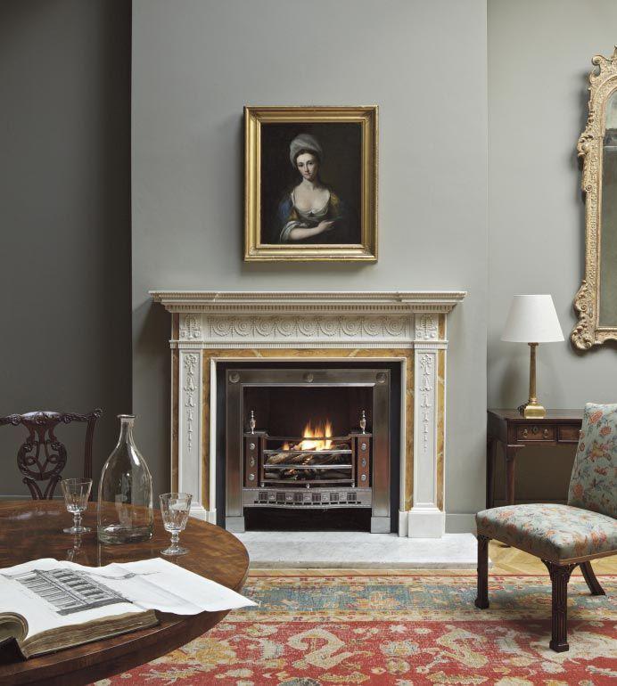 Fireplace Design fireplace colors : Clarendon Neoclassical Fireplace -- Jamb   Grey   Pinterest ...