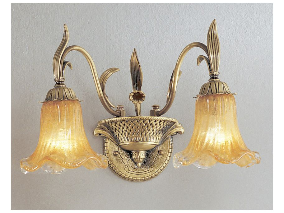 Classic Lighting Corporation Venezia Dark Bronze & Polished Two-Light Wall Sconce
