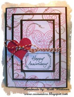 Eastunders Creations Anniversary Layered Card Valentines Cards Cards Cards Handmade