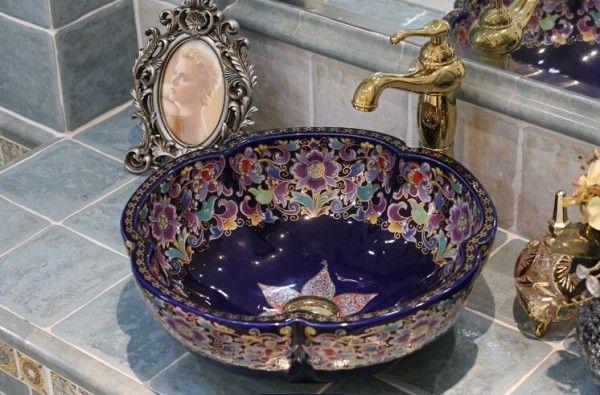 Beautiful Bathrooms Ceramic Sinks, Patterned Bathroom Sinks