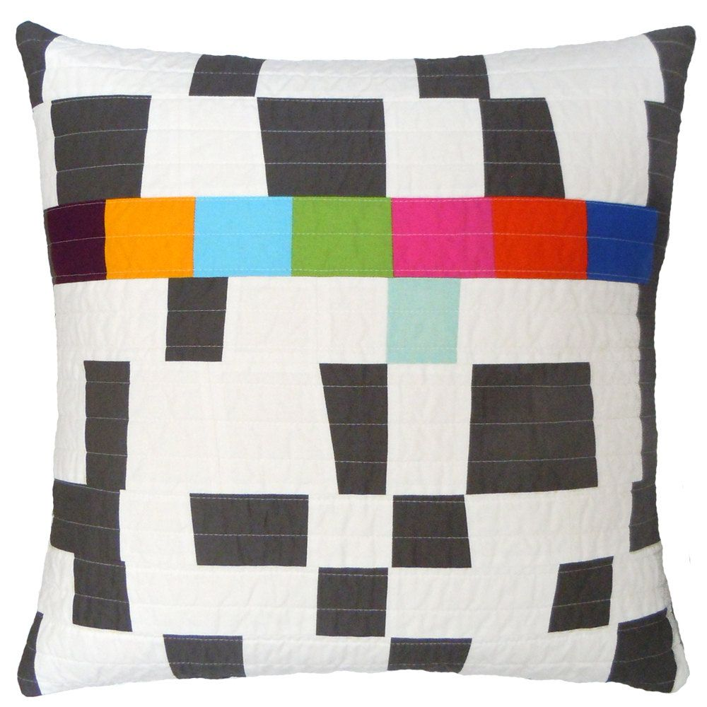 Modern quilted pillow barbara perrino crazy quilting pinterest