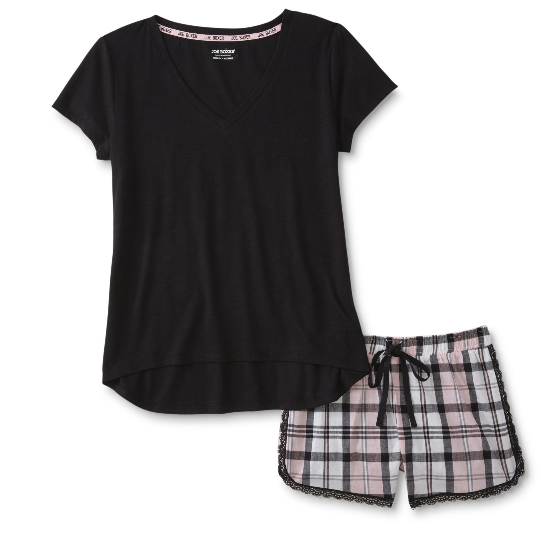 Joe Boxer Plus Size Women\'s Plus Pajama Shirt & Shorts - Plaid, Size ...